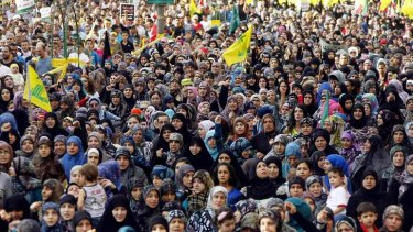 Thousands turned out to hear Sayyed Hassan Nasrallah speak.