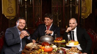 Back to basics: <i>MasterChef</i> judges Gary Mehigan, Matt Preston and George Calombaris have enjoyed a ratings bump this season.