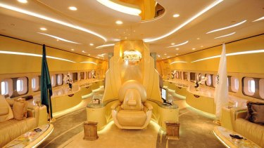 Yes, it's a throne. On a Boeing 747. Belonging to Saudi royal Prince Alwaleed bin Talal al Saud.