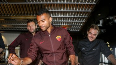Bogdan Lobont and Ashley Cole at Vue de Monde with Shannon Bennett.