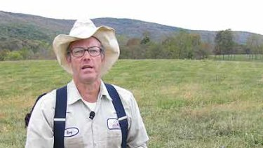 Chemical crusader... US farmer Joel Salatin is the moral hero in Food, Inc.