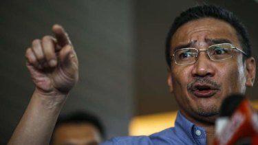 Malaysia's acting Transport Minister Hishammuddin Hussein speaks about the search for the missing Malaysia Airlines Flight MH370.