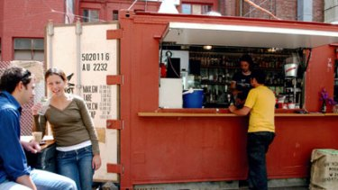 Success story ... Section 8, in Tattersalls Lane, opened from a shipping container to take advantage of Commonwealth Games trade.