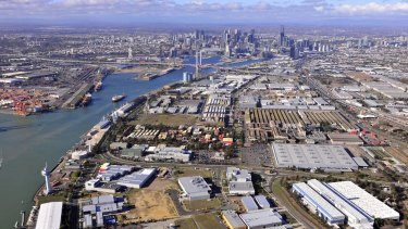 Fishermans Bend as it is today.