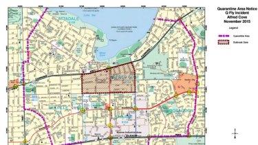 The spray zone inside the eight-suburb quarantine zone surrounding Alfred Cove.