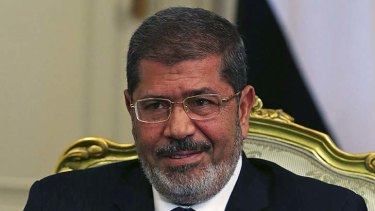 Shaken ...Egypt's President Mohamed Mursi and his government following the Sinai attack.