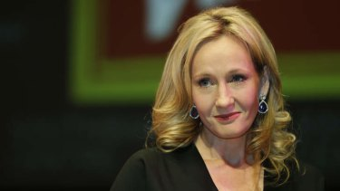 Unhappy ... British author J.K. Rowling hoped to keep a secret a little longer.