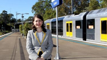 """""""People ... are telling us they are seeing improvements"""": Transport Minister Gladys Berejiklian."""
