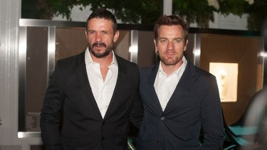<i>Son of a Gun</i> co-stars Matt Nable (left) and Ewan McGregor (right) caused a stir at the Polo in the Valley launch at Tiffany & Co