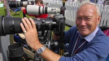 English cricket photographer Patrick Eagar.