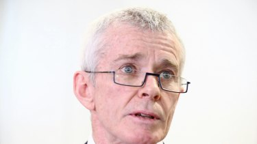 Senator Malcolm Roberts addresses the media during a doorstop press conference at Parliament House in Canberra on Wednesday 16 August 2017. fedpol Photo: Alex Ellinghausen