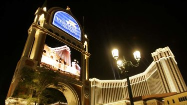 One of the territory's popular casinos, The Venetian.