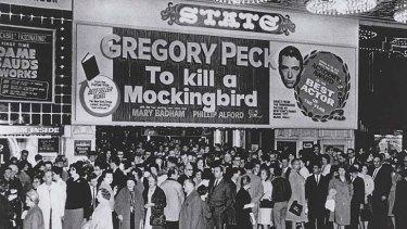 Historic flick ... <em>To Kill a Mockingbird</em> (1962) drew huge crowds to the State Theatre.