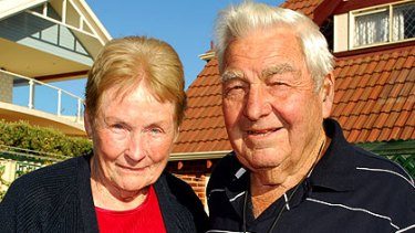 Healthcare concerns ... Coogee pensioners Bet and Bob Poole.