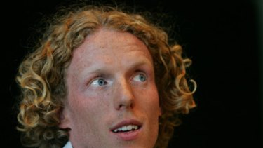 """""""It doesn't happen very often...(that) you get the north wind blowing you down the track"""": Steve Hooker."""