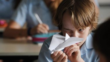 Uplifting tale: Ed Oxenbould in <i>Paper Planes</i>.