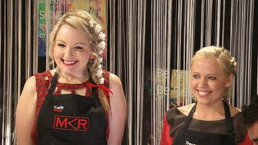 They just need a 'snuggly hug' ... Carly and Tresne are a breath of Australian air to the <i>MKR</i> kitchen.