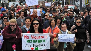 Thousands march at Reclaim the Night in Melbourne.
