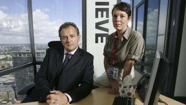 Hot topic: Hugh Bonneville and Olivia Colman in <i>Twenty Twelve</i>.