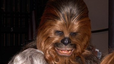 George Lucas reportedly sent Chewbacca along to the bash.