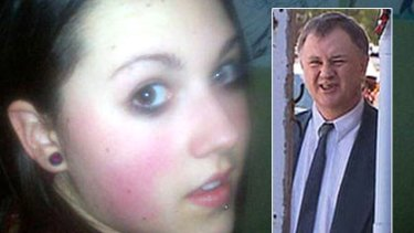 Carly Ryan and (inset) her killer Garry Newman.