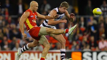 Gary Ablett had has first game against his former team.