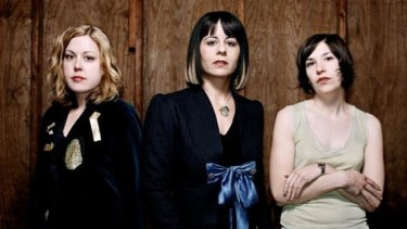 Powerful defiance: Sleater-Kinney are Corin Tucker, Janet Weiss and Carrie Brownstein.