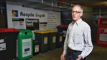 Gordon Streight, chairman of the strata committee at The Bauhaus, said residents had embraced the recycling depot which was set up in the building's underground car park.