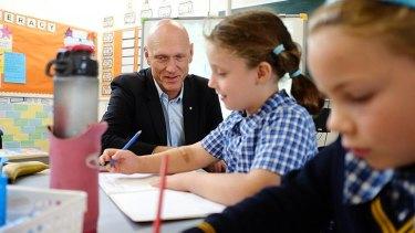 Federal Education Minister Peter Garrett.