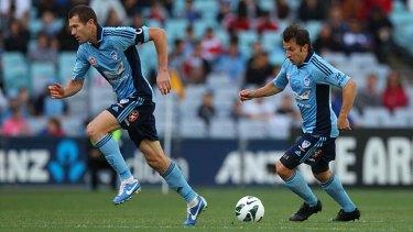 Mentors … Emerton and del Piero in action.