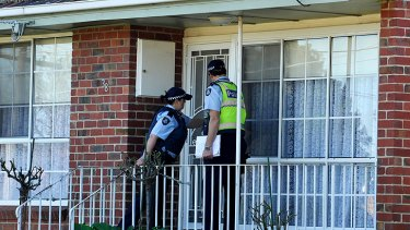 Police make their presence felt and reassure residents in Glenroy after the street shootings.