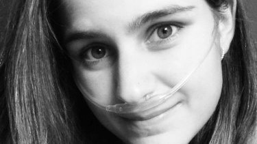 Italian woman Caterina Simonsen suffers from four rare genetic disorders and cannot breathe without the aid of oxygen tubes