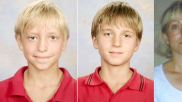 Andre Nicholas Valette. 9, (left), and Frank Oliver Valette, 11, (centre), have been missing since they visited their mother Ann-Louise Valette (right).