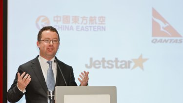 Qantas chief Alan Joyce has increasingly hitched the airline to China Eastern.