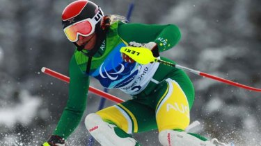 Jessica Gallagher of Australia has won bronze in the slalom.