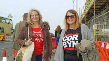 Karma McKeefery (left) and Sue Brennan from Lancashire say Jeremy Corbyn is restoring the party's socialist agenda.
