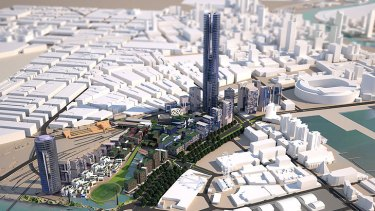 An artist's impression of the proposed suburb.