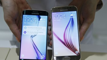 The Samsung Galaxy S6 edge, left, and Galaxy S6 are the most dominant Android phones by some distance.