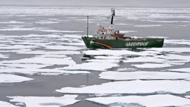 Greenpeace's protest ship Arctic Sunrise, seen here in 2012, was confiscated by Russian authorities after the group's September 2013 protest on the Gazprom platform.