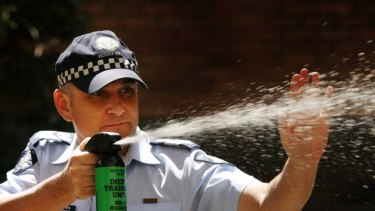 Police may be overusing pepper spray, according to a report by the Human Rights Law centre.