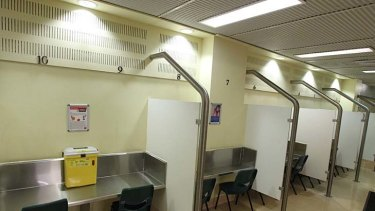 The injecting rooms at Sydney's Medically Supervised Injecting Centre at Kings Cross.