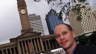 Campbell Newman back when he was campaigning to become Brisbane's lord mayor.