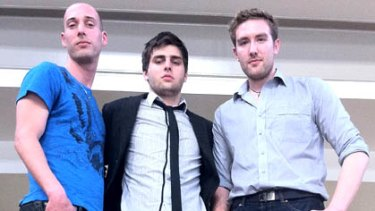 Date Rate creators Gabe Hollombe, Bryce Summerell and Carlo Del Fabbro. <br> <i>Photo: Ben Grubb</i>