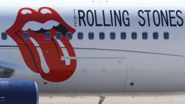 Rolling Stones livery is seen on the Aeronexus Corporation's - Boeing 767 used by the Rolling Stones.