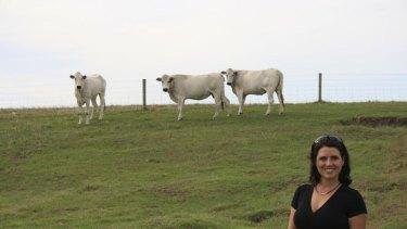Daniela Mollica and Chianina cattle.