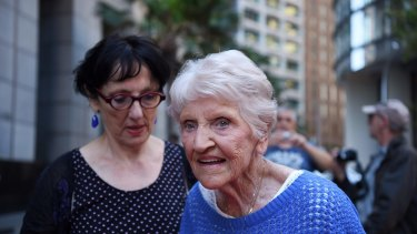 Eileen Piper, 92, arrives at the royal commission.