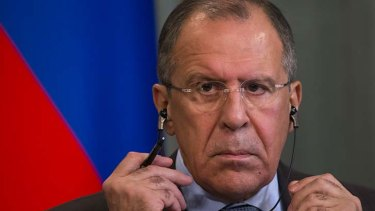 Has not accepted Foreign Minister Julie Bishop's requests for a telephone conversation: Russian Foreign Minister Sergey Lavrov.