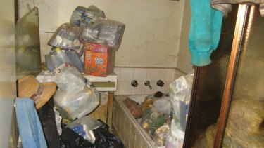The home of a 79-year-old woman from the Caulfield area who had been living in squalor.