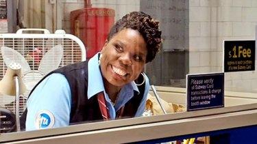 Leslie Jones as Patty Tolan in Ghostbusters.