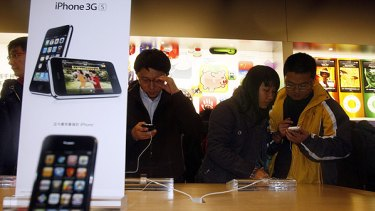 Delayed ... the iPhone has finally arrived in China but without Wi-Fi.